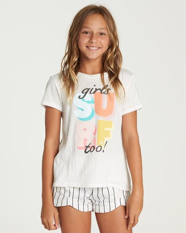 0 Girls Surf Too T-Shirt  G484UBGI Billabong