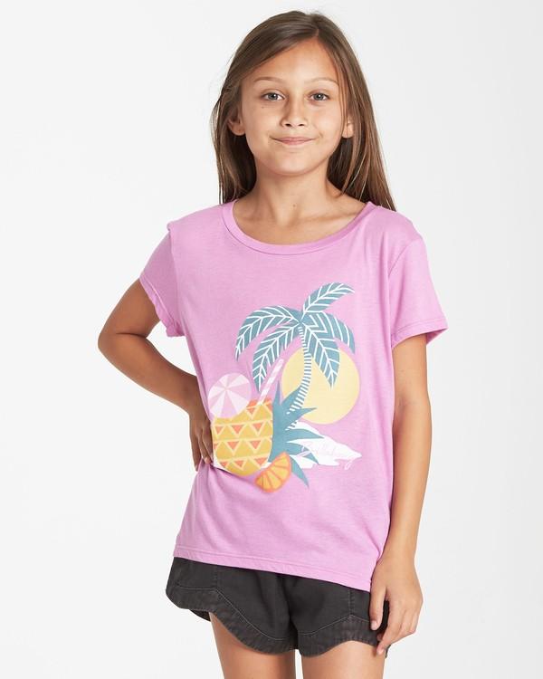 0 Girls' Pineapple Party T-Shirt Purple G484VBPI Billabong