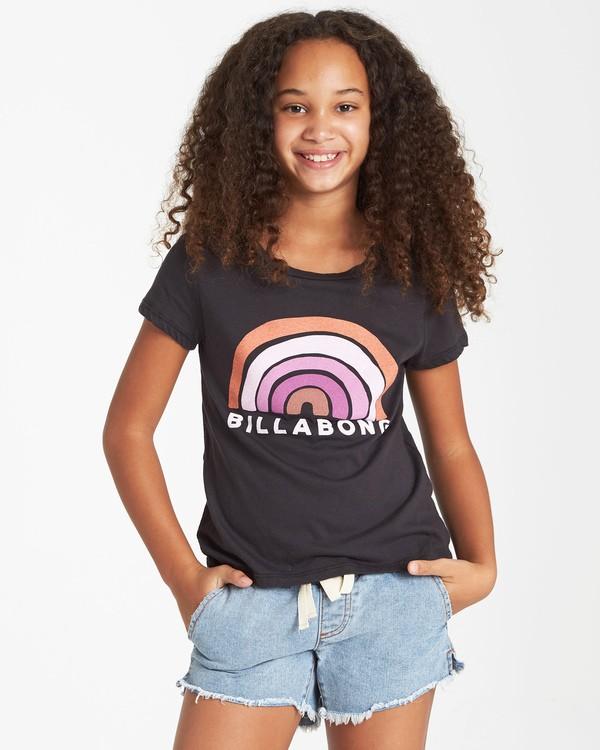 0 Girls' Rainbow Love T-Shirt Black G484VBRA Billabong