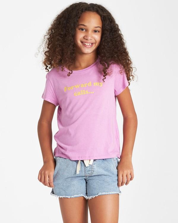 0 Girls' Vacation T-Shirt Purple G484VBVA Billabong