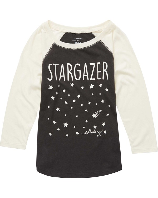 0 Girls' Stargazer Raglan Tee  G486QBST Billabong