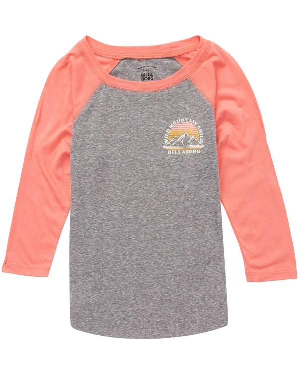 0 Girls' Wild Mountain Child Raglan T-Shirt  G486QBWI Billabong