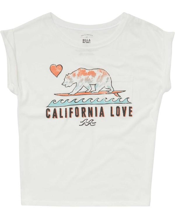 0 Girls' Cali Love Waves Tee  G491PBCA Billabong