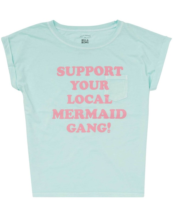 0 Girls' Mermaid Gang T-Shirt  G491PBME Billabong