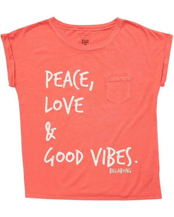 0 Girls' Peace & Love T-Shirt  G491QBPE Billabong