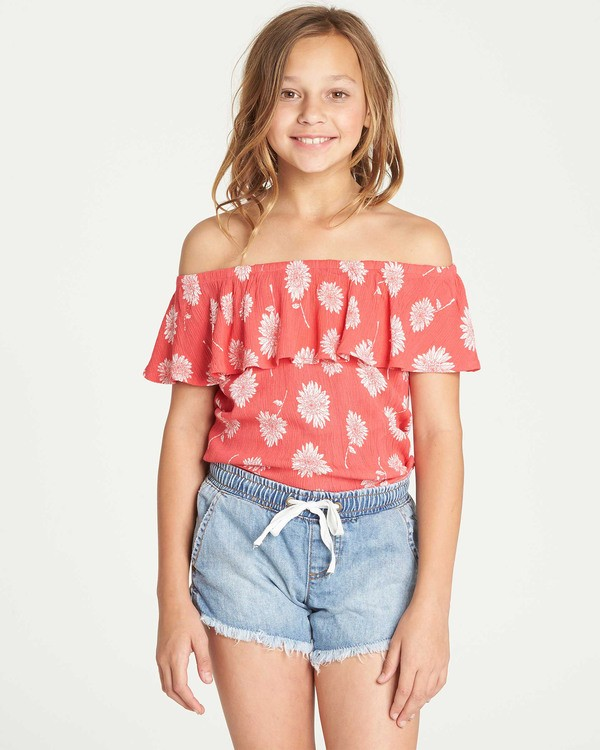 0 Girls' Puerto Dreams Top Red G501TBPU Billabong