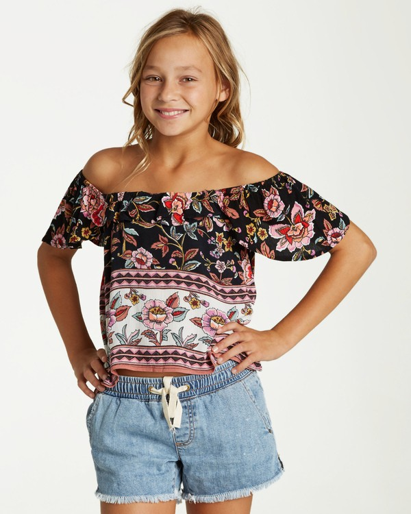 0 Girls' Hip Hip Top Black G502VBHI Billabong