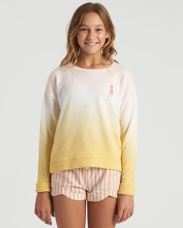 0 Girls' Block Talk Sweatshirt Grey G6023BBL Billabong