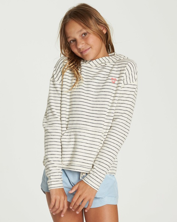 0 Girls' Friday Feeling Hoodie Beige G602QBFR Billabong