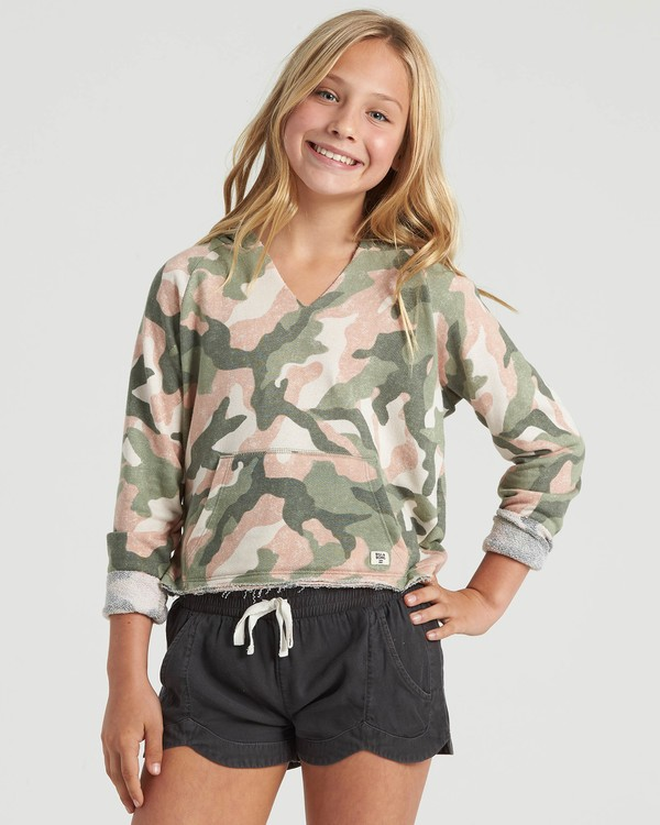 0 Girls' Camp Day Sweatshirt Beige G6043BCA Billabong
