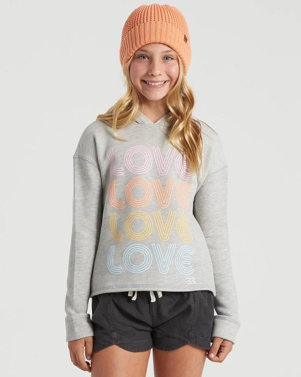 0 Girls' Windy Beach Sweatshirt Grey G6053BWI Billabong