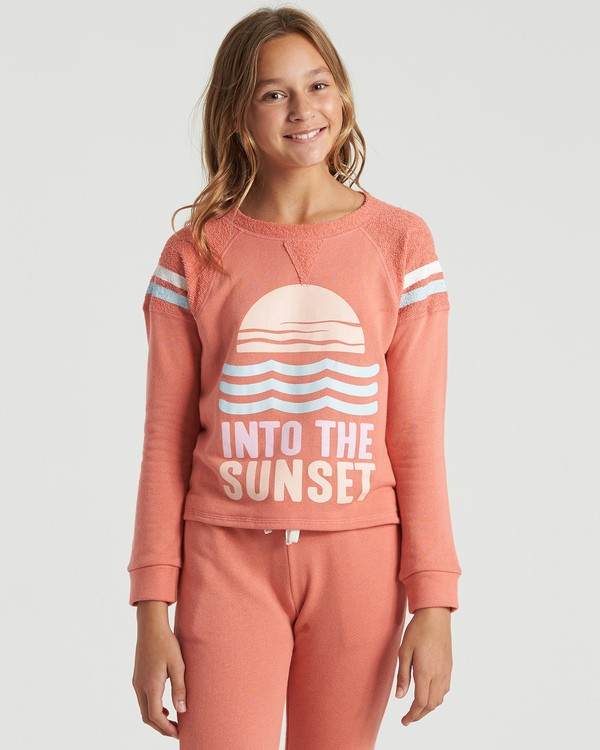 0 Girls' Lounge Life Sweatshirt Multicolor G6063BLO Billabong