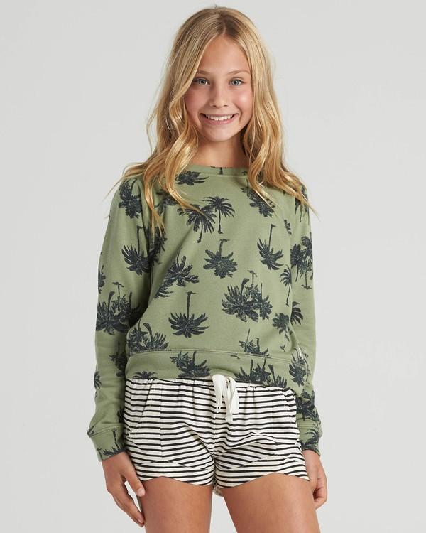 0 Girls' Palms Away Sweatshirt Multicolor G6073BPA Billabong