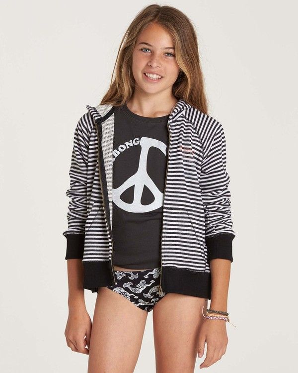 0 Girls' From The Sea Zip Up Hoodie  G607NBFR Billabong