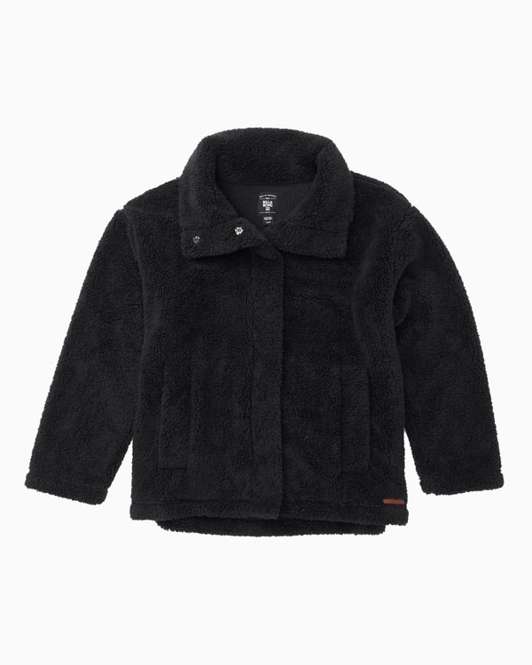 0 Girls' Artic Oasis Fleece Jacket Black G607SBAR Billabong