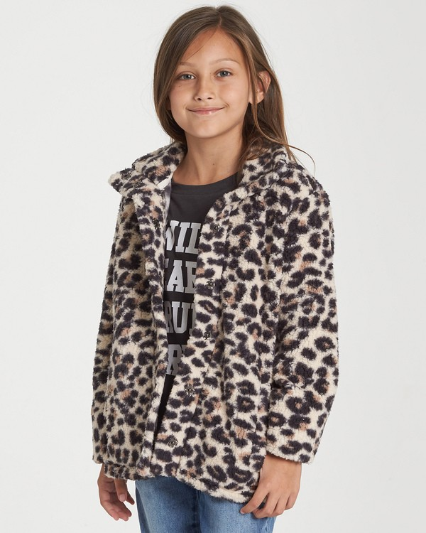 0 Girls' Artic Oasis Fleece Jacket Beige G607SBAR Billabong