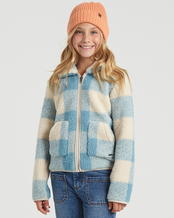 0 Girls' Warm And Cozy Polar Fleece Jacket Blue G6083BWA Billabong