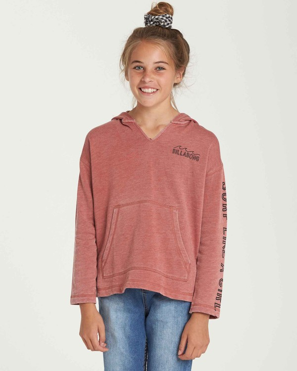 0 Girls' Sunday Love Hoodie Red G608QBSU Billabong