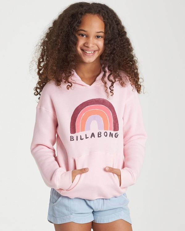 0 Girls' Band Of Color Hoodie Pink G651WBBA Billabong