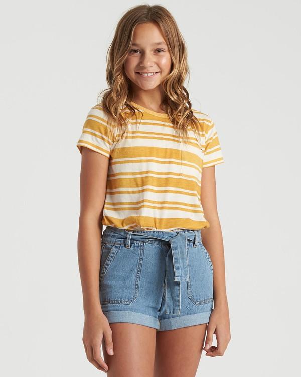 0 Girls' Soul Babe Mini T-Shirt Grey G9013BSO Billabong