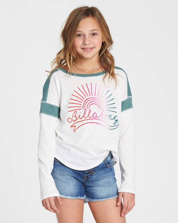 0 Girls' Game Time Long Sleeve Tee Green G901SBGA Billabong