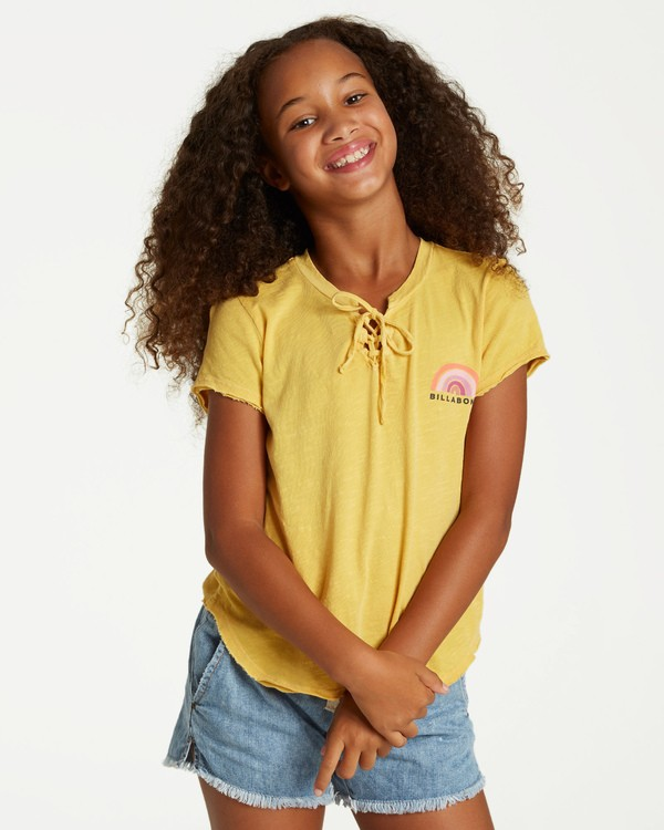 0 Girls' New Day Top Yellow G902VBNE Billabong