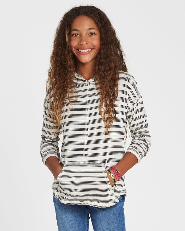 0 Girls' These Days Hooded Long Sleeve White G903SBTH Billabong