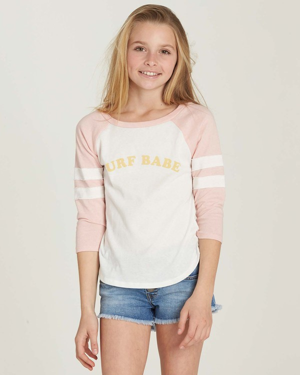 0 Girls' Surf Babe Top Pink G905MSUR Billabong