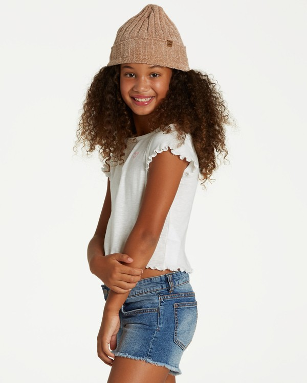 0 Girls' Secret Coast Top Beige G906VBSE Billabong
