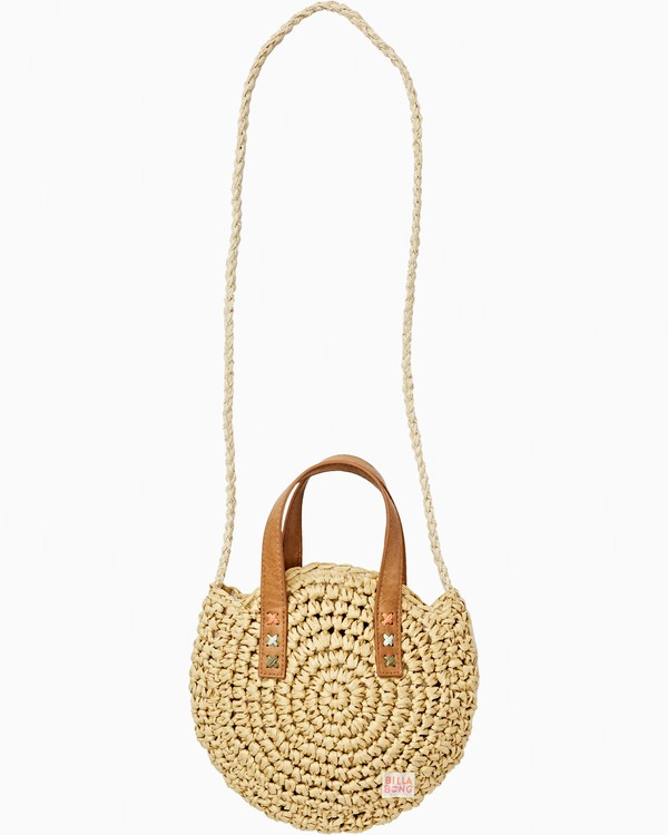 0 Girls' Sandy Shores Straw Bag Beige GABGVBSA Billabong
