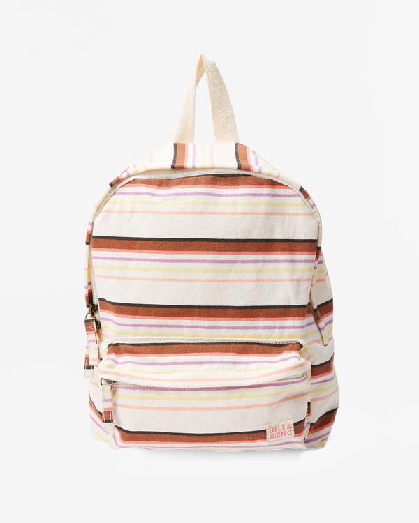 0 Girls' Mini Mama Jr Canvas Backpack White GABGWBMI Billabong