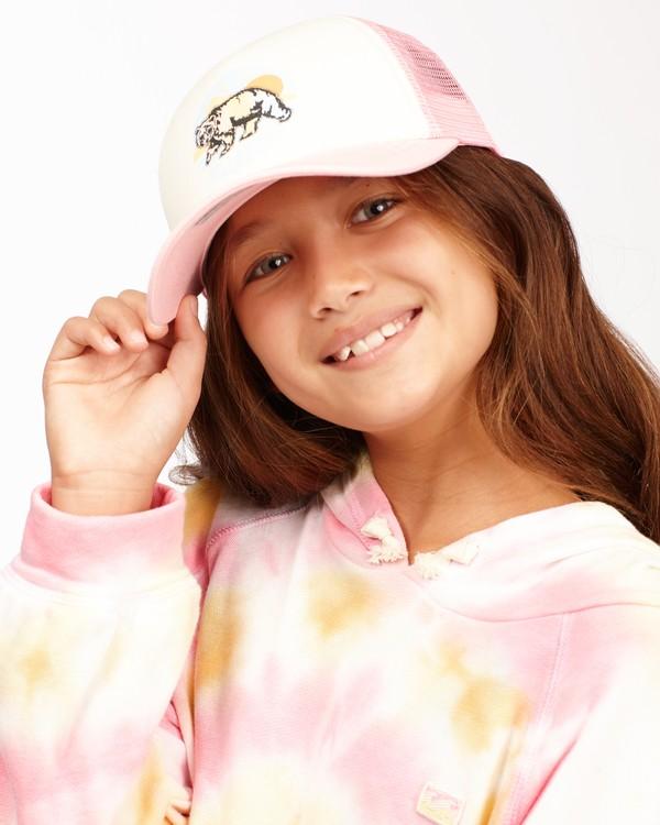 0 Girls' Pitstop Trucker Hat Pink GAHTHPIT Billabong