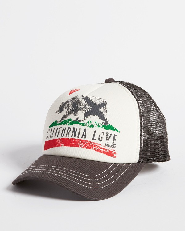 0 Girls' Pitstop Trucker Hat White GAHTHPIT Billabong