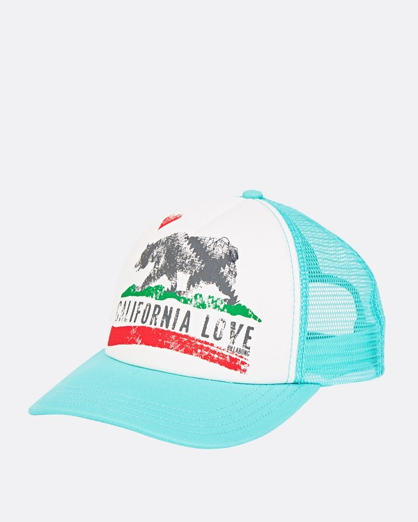 0 Girls' Pitstop Trucker Hat Green GAHTHPIT Billabong