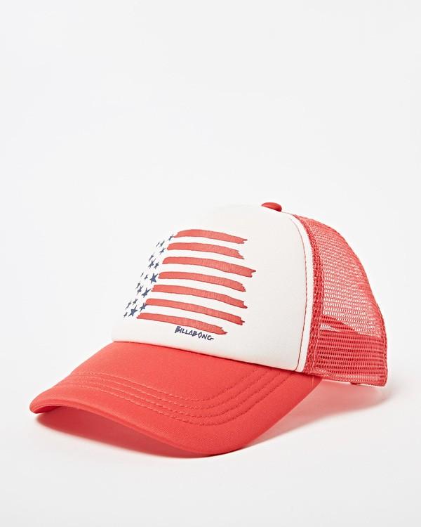 0 Girls' Ohana Trucker Hat Red GAHWQBOH Billabong