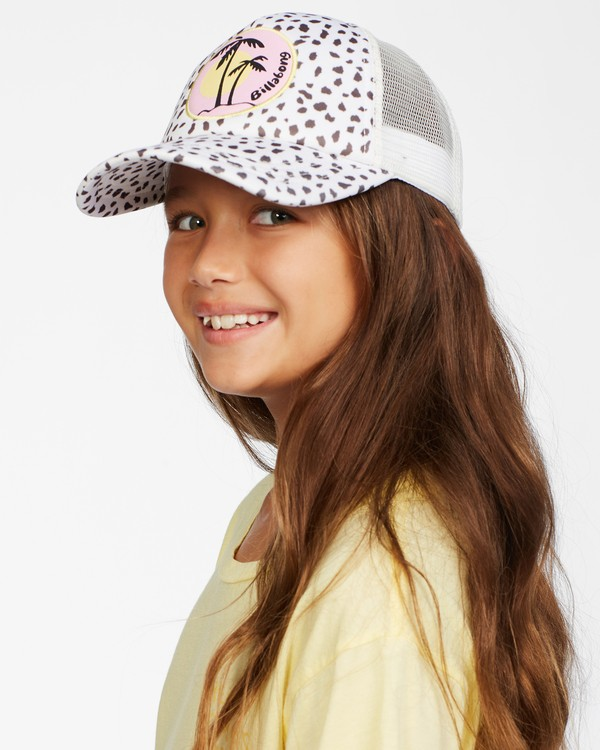 0 Girls' Shenanigans Trucker Hat White GAHWQBSH Billabong