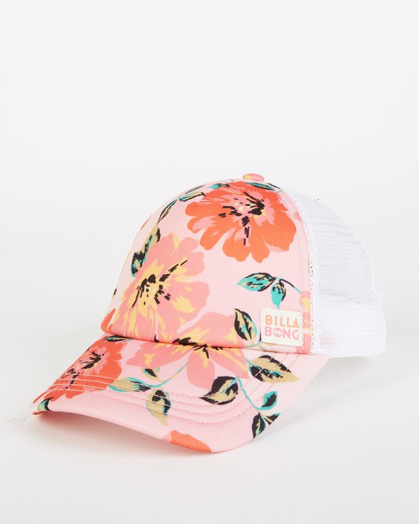 0 Girls' Shenanigans Trucker Hat Pink GAHWQBSH Billabong