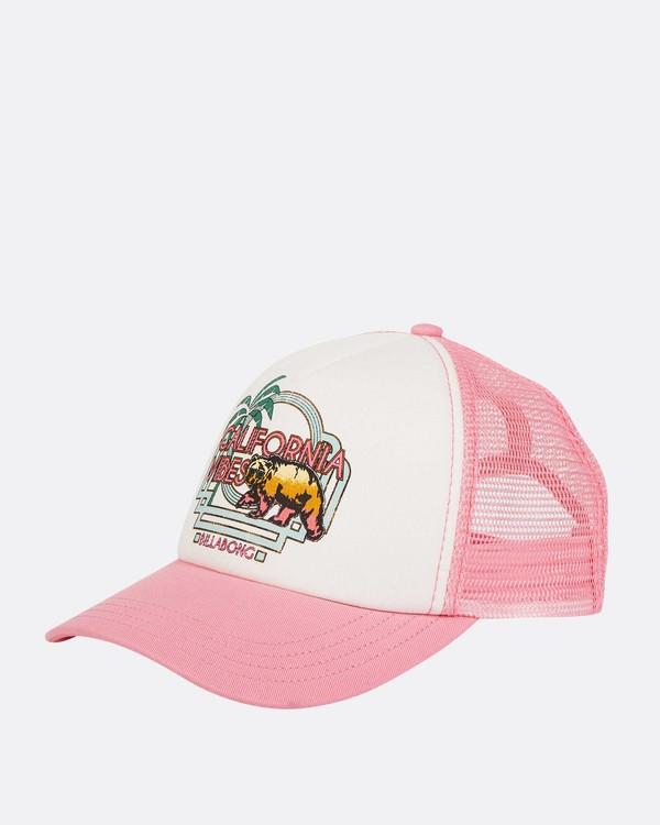 0 Girls' Cali Vibes Trucker Hat Pink GAHWTBCA Billabong