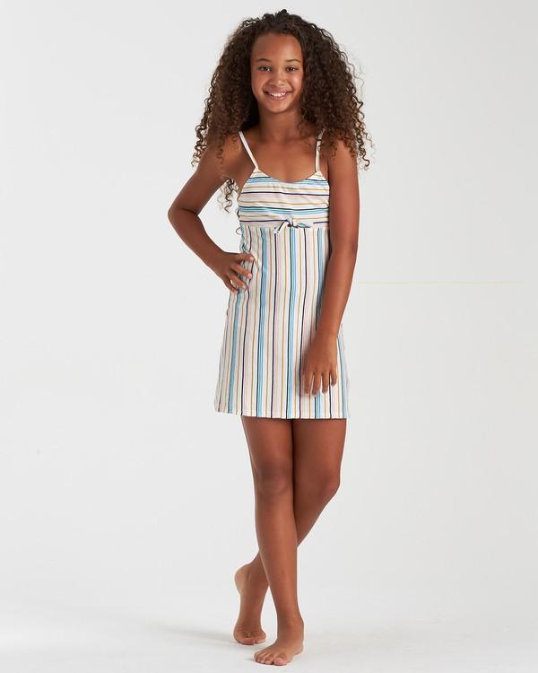 0 Girls' Beachy Stripes Dress Grey GD022BBE Billabong