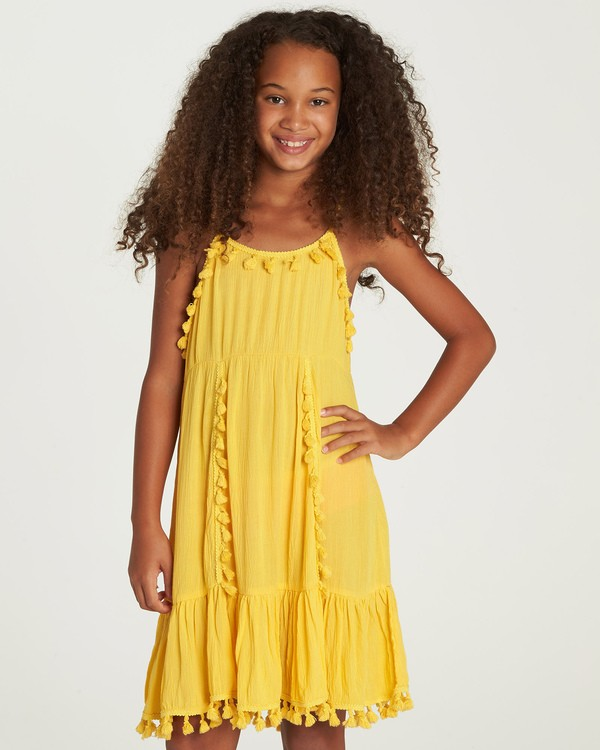 0 Sunny Gazer Dress Yellow GD04UBSU Billabong