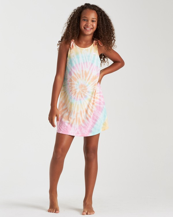 0 Girls' Beach Song Tie-Dye Dress Grey GD08TBBE Billabong