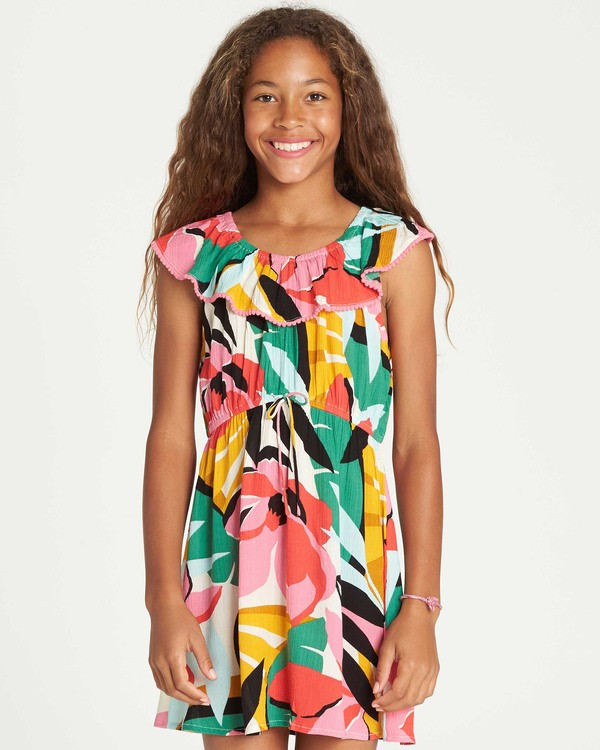 0 Girls' Under The Palms Dress  GD11TBUN Billabong