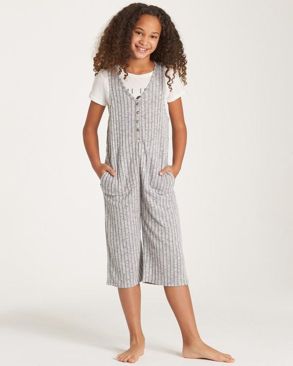 0 Girls' Cozy Up Jumpsuit Grey GN02WBCO Billabong