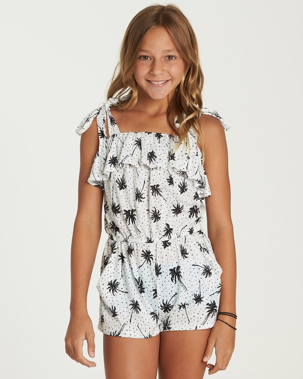 0 Girls' Summer Road Romper Black GN03UBSU Billabong