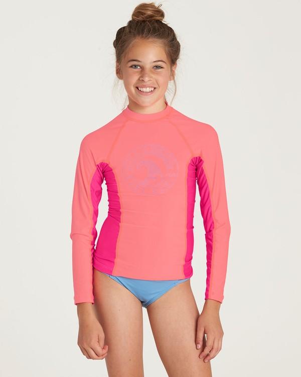 0 Girls' Surf Dayz Performance Long Sleeve Rashguard Pink GR52NBSD Billabong