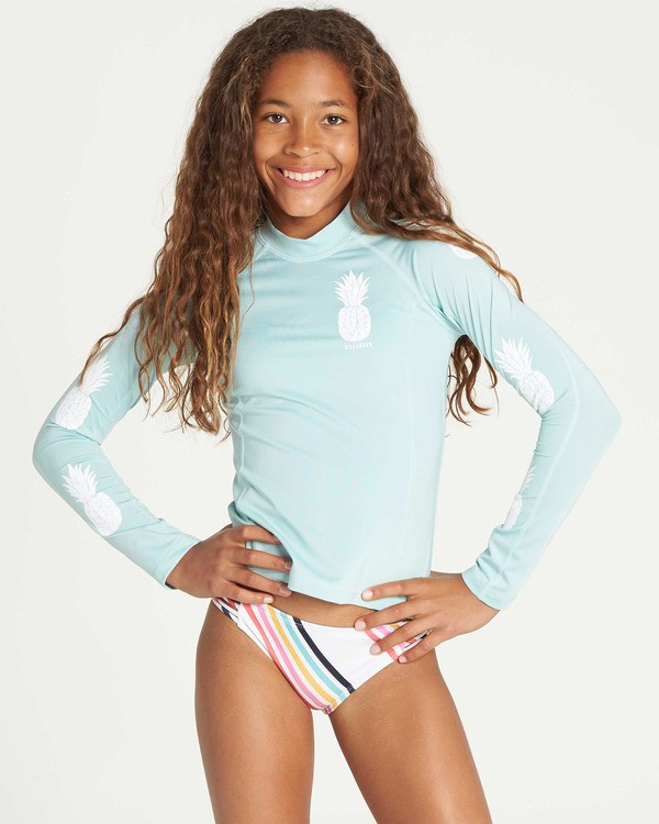 0 Girls' Surf Dayz Performance Long Sleeve Rashguard  GR53TBSD Billabong