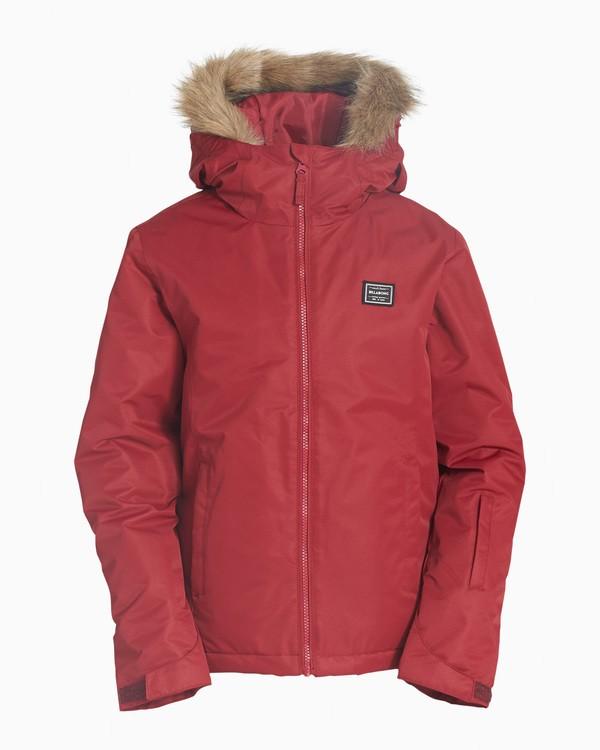 0 Girls' Sula Snow Jacket Red GSNJVBSU Billabong