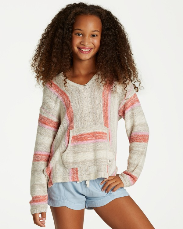 0 Girls' Baja Cove Sweater Brown GV01QBBA Billabong