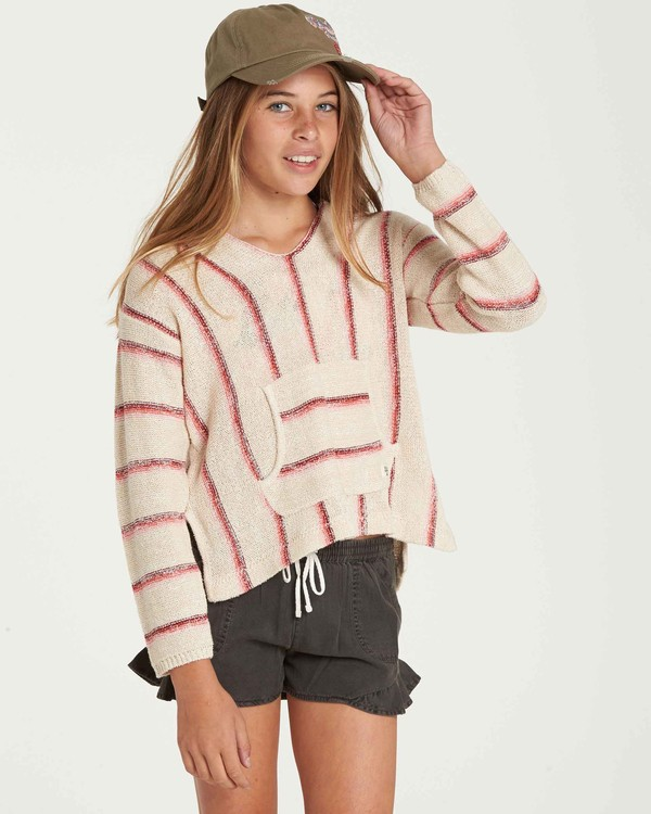 0 Girls' Baja Cove Sweater Beige GV01QBBA Billabong
