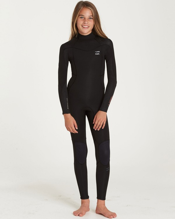 0 Girls' 4/3 Furnace Synergy Back Zip Fullsuit Black GWFUQBB4 Billabong